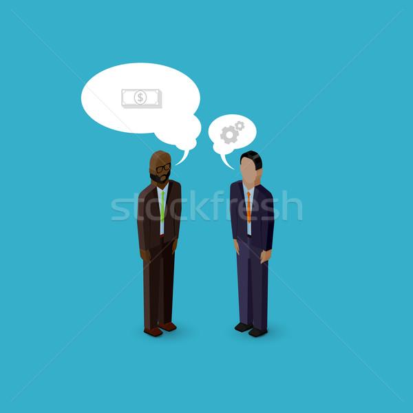 Vetor 3D isométrica desenho animado ilustração homens Foto stock © maximmmmum