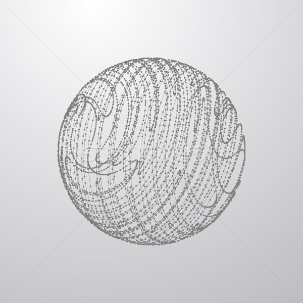 3D sfera particelle futuristico elemento tecnologia Foto d'archivio © maximmmmum