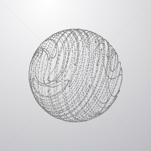 3D sphere of particles Stock photo © maximmmmum
