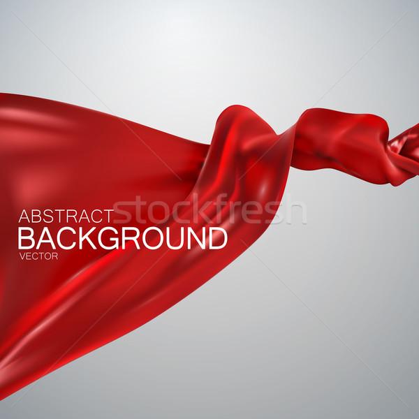 Rojo seda tejido raso vector textiles Foto stock © maximmmmum