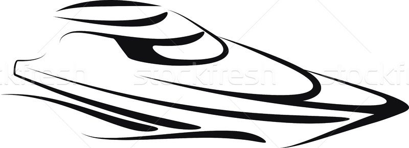 Yacht illustration mer navire voile graphique Photo stock © maximmmmum