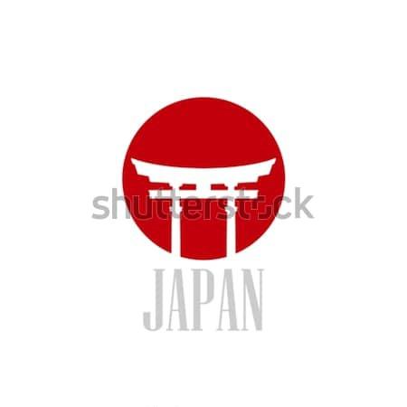 Vintage illustrazione Giappone cancello design web Foto d'archivio © maximmmmum