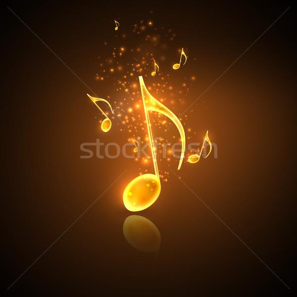 illustration of golden music notes Stock photo © maximmmmum