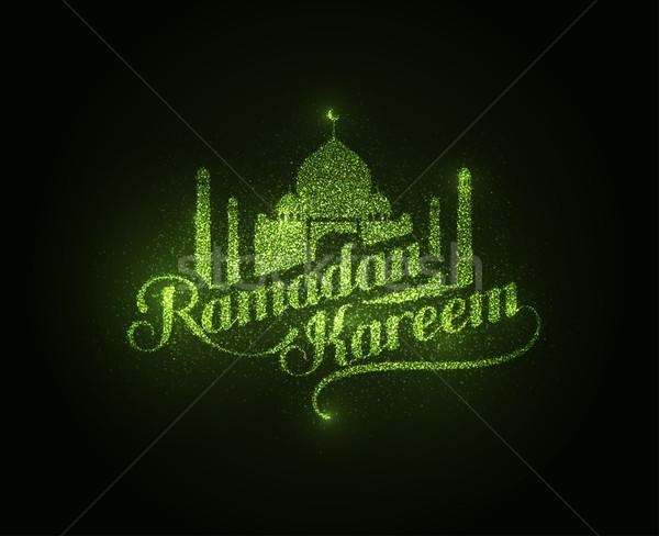 Ramadan Kareem shiny label Stock photo © maximmmmum