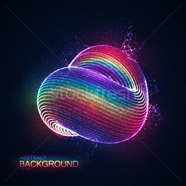 3D abstract cappio particelle Rainbow Foto d'archivio © maximmmmum