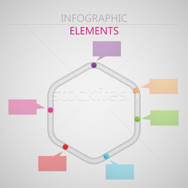 Vektor absztrakt 3D papír infografika elemek Stock fotó © maximmmmum