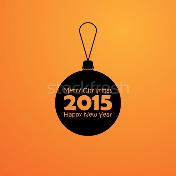 Resumen pelota estilo vacaciones alegre Navidad Foto stock © maximmmmum