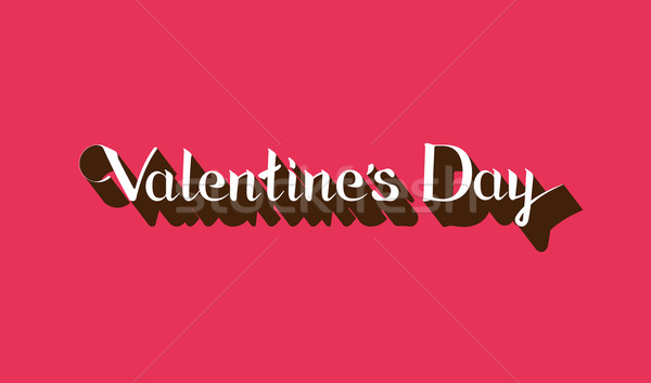 vector holiday typographical illustration of Valentines Day lettering emblem. Logo template Stock photo © maximmmmum