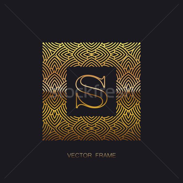 art-deco golden frame Stock photo © maximmmmum