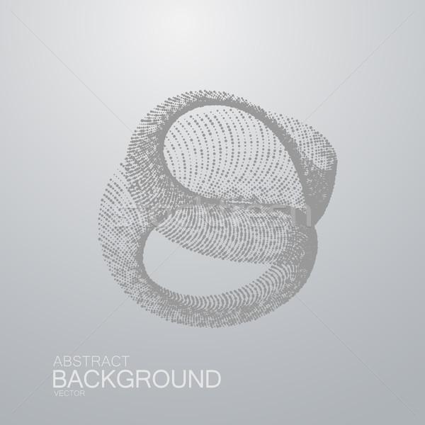 Zdjęcia stock: 3D · cząstki · futurystyczny · technologii · nano