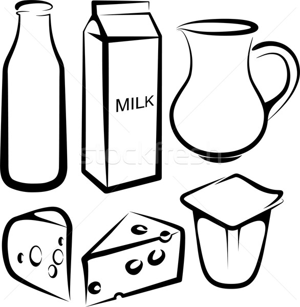 Set Of Dairy Products Vector Illustration Maksim Harshchankou