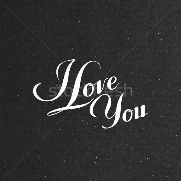 I love you retro label Stock photo © maximmmmum