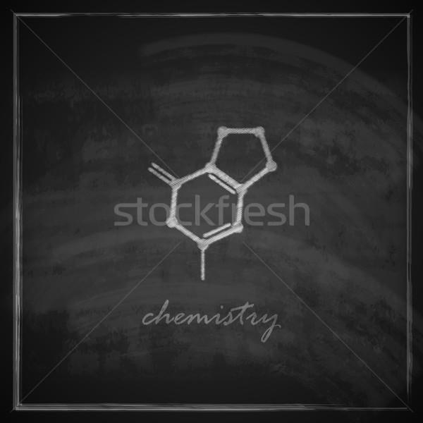 ヴィンテージ 実例 分子の アイコン 黒板 デザイン ストックフォト © maximmmmum