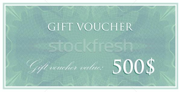 Vector plantilla diseno regalo vale certificado Foto stock © maximmmmum