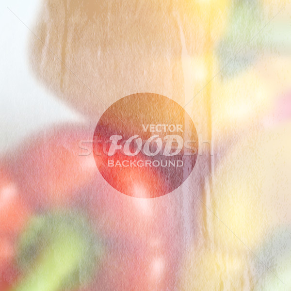 food background of red and yellow peppers with old wrinkled paper texture Stock photo © maximmmmum