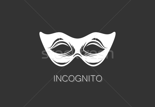 vector illustration of carnival mask icon. anonymous person concept. logo template design  Stock photo © maximmmmum