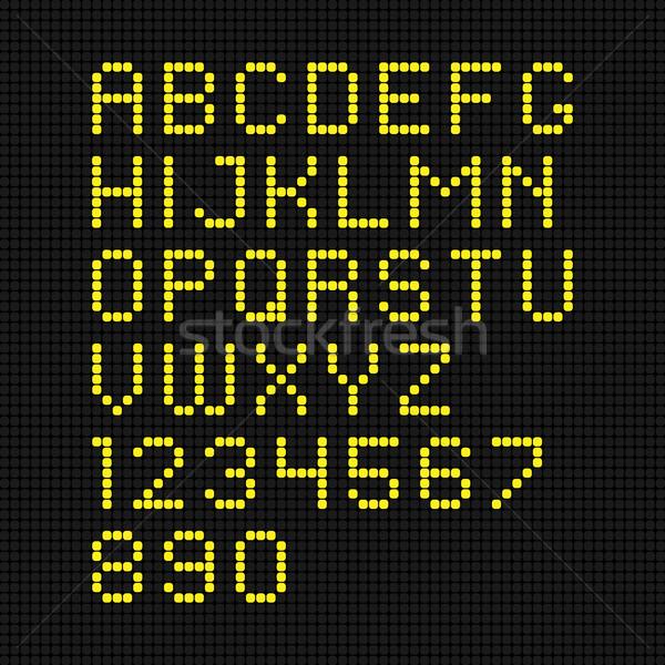 vector yellow digital led font Stock photo © maximmmmum