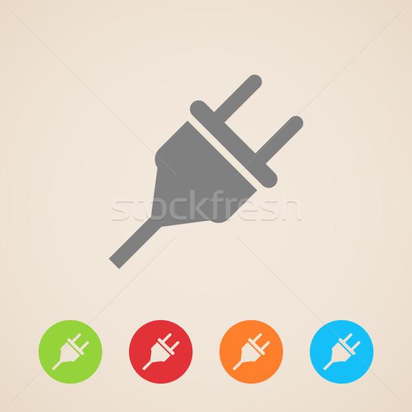 electric plug icon  Stock photo © maximmmmum
