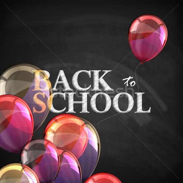 Volver a la escuela educativo ilustración pizarra textura vuelo Foto stock © maximmmmum