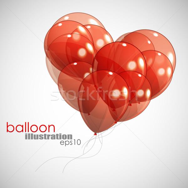 Vermelho balões amor cor apresentar apresentação Foto stock © maximmmmum