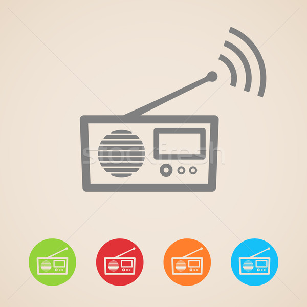 vector radio icons  Stock photo © maximmmmum