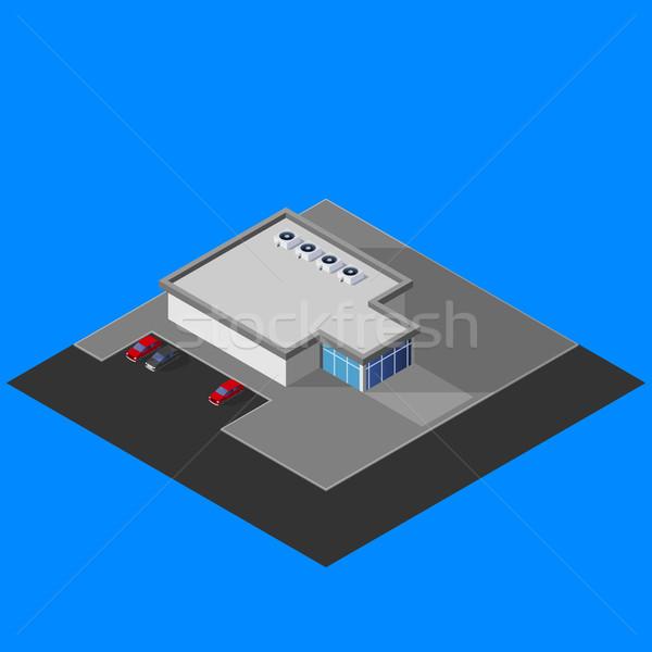 Supermercado edificio negocios oficina mapa Foto stock © maximmmmum