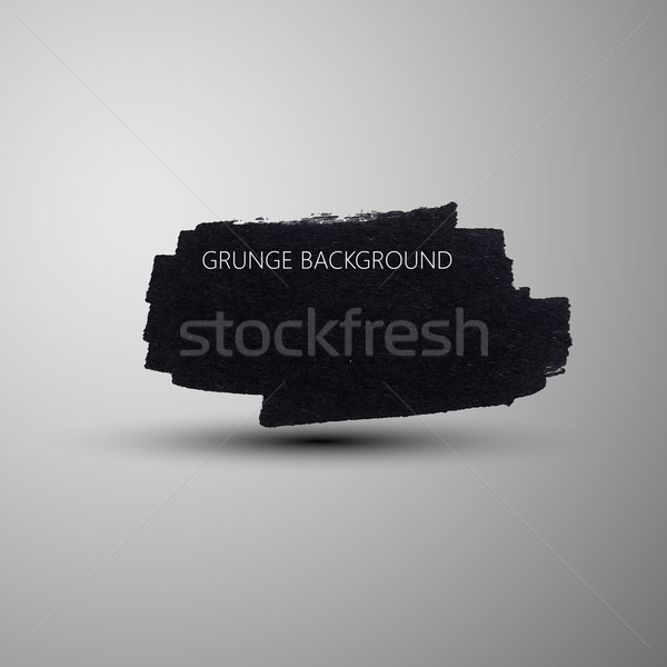 Grunge marker stain banner. brushed ink texture. Abstract background for your design  Stock photo © maximmmmum