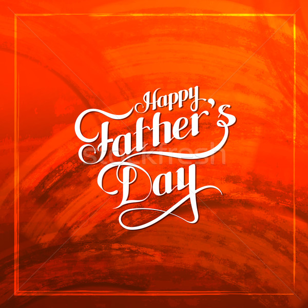 Happy Fathers Day retro label on red grunge texture. Stock photo © maximmmmum