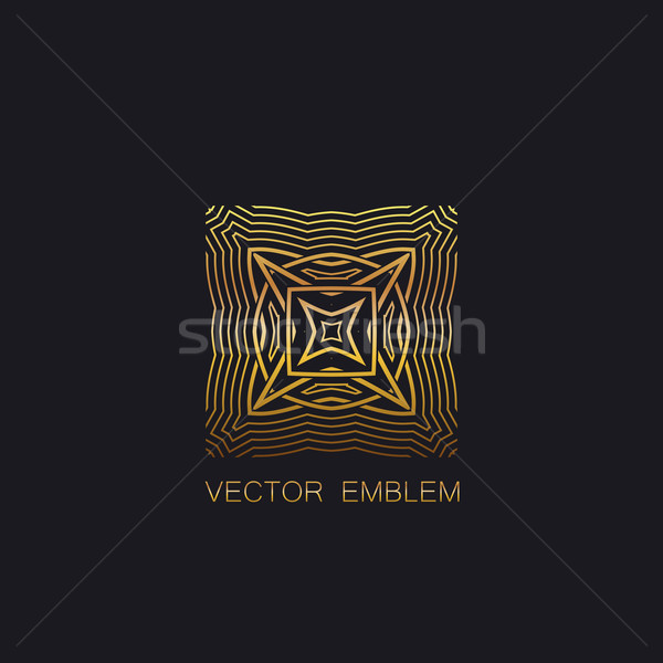 art-deco golden emblem Stock photo © maximmmmum