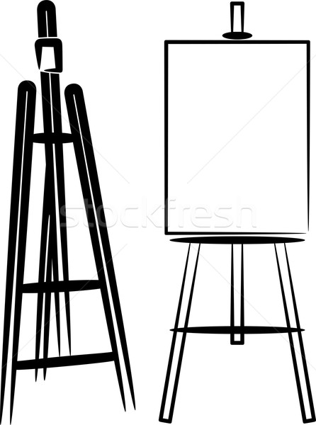 simple illustration with easels Stock photo © maximmmmum