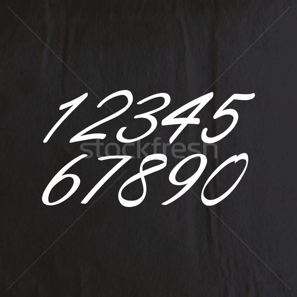 вектора набор мелом черный текстуру бумаги Сток-фото © maximmmmum