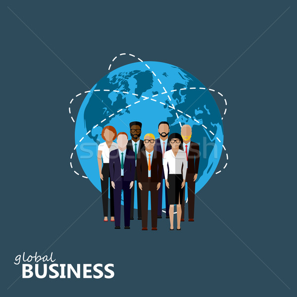 vector flat illustration of business or politics community.  Stock photo © maximmmmum