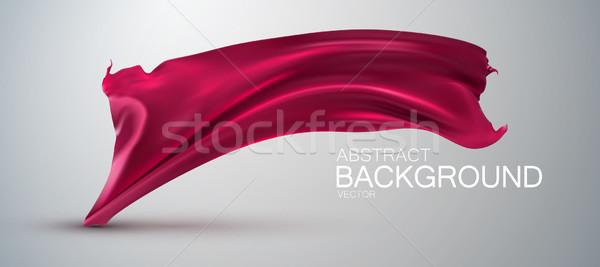 粉紅色 絲綢 布 緞 向量 紡織品 商業照片 © maximmmmum