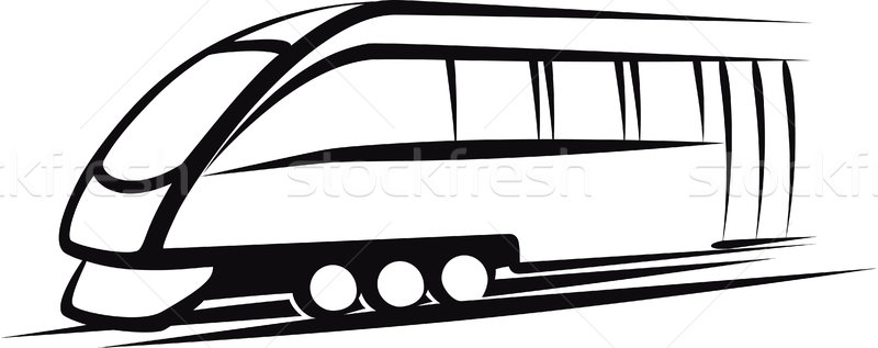 поезд иллюстрация железная дорога транспорт черный колесо Сток-фото © maximmmmum