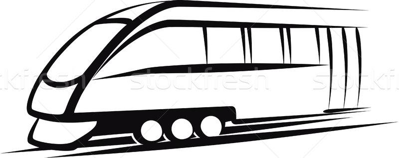 Tren ilustración ferrocarril transporte negro rueda Foto stock © maximmmmum