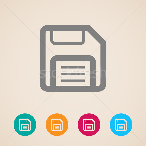 floppy disk. storage icon  Stock photo © maximmmmum
