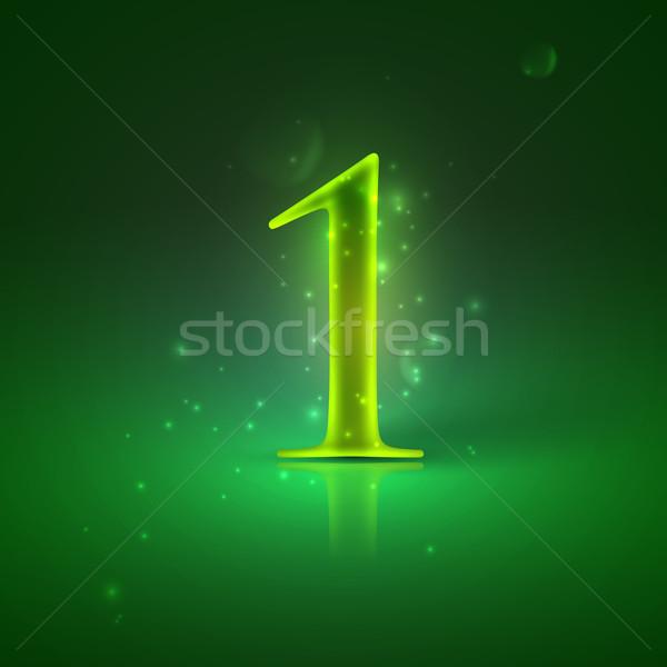 Zöld izzó legelső fény terv siker Stock fotó © maximmmmum