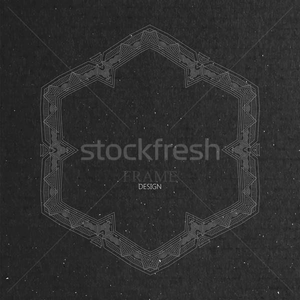 Stock fotó: Díszes · keret · karton · textúra · kecses · vonal
