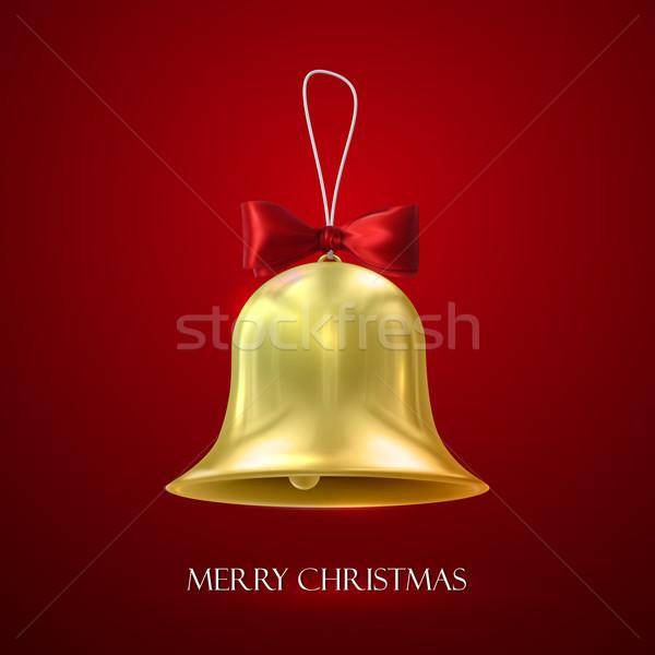 Or Noël cloche vecteur vacances illustration Photo stock © maximmmmum