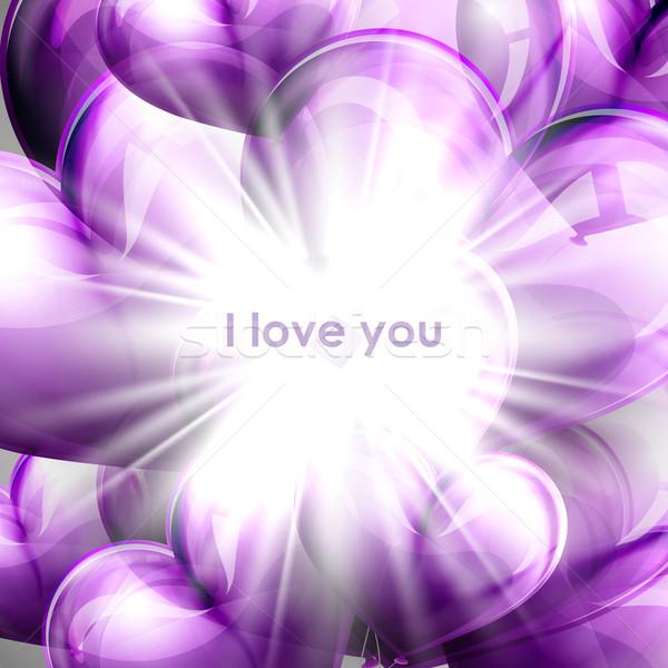Vector vacaciones ilustración púrpura vuelo globo Foto stock © maximmmmum