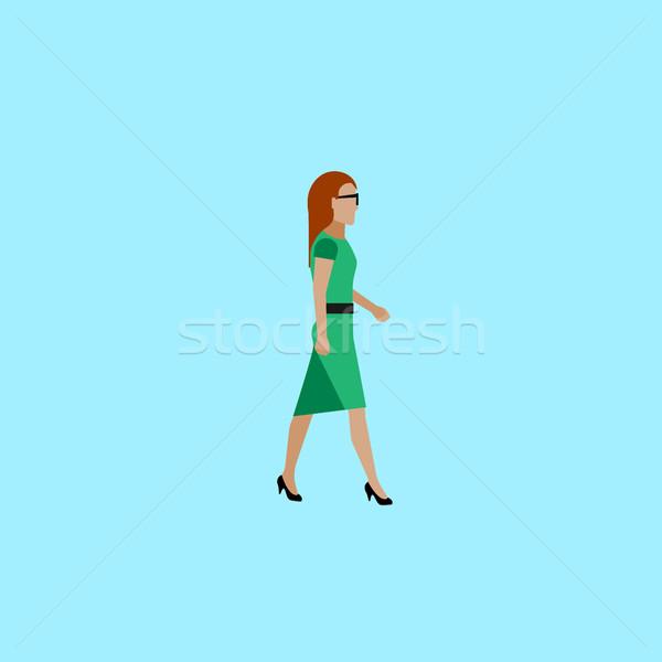 Illusztráció üzletasszony vektor politikus ruha sétál Stock fotó © maximmmmum