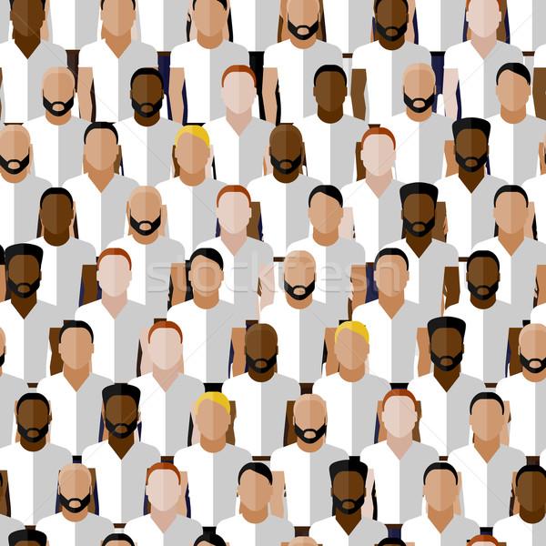 vector seamless pattern with men group or community wearing sport uniform. flat  illustration of spo Stock photo © maximmmmum