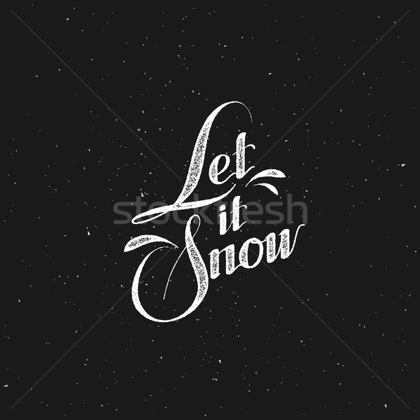 Let It Snow. Vector Illustration Stock photo © maximmmmum