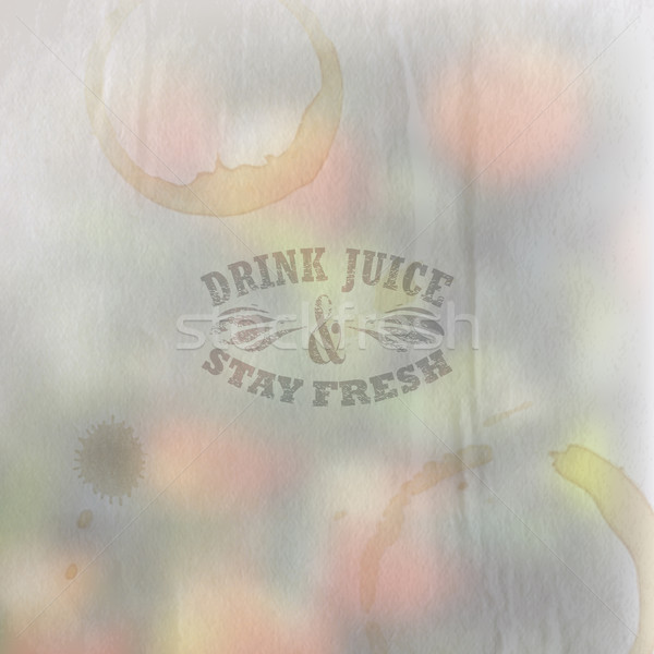 Quote typographical label on vintage blurred paper background of orange grove with faded watercolor  Stock photo © maximmmmum