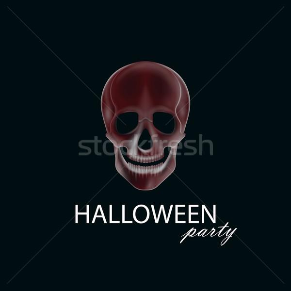 Ludzi czaszki halloween strony plakat ulotki Zdjęcia stock © maximmmmum