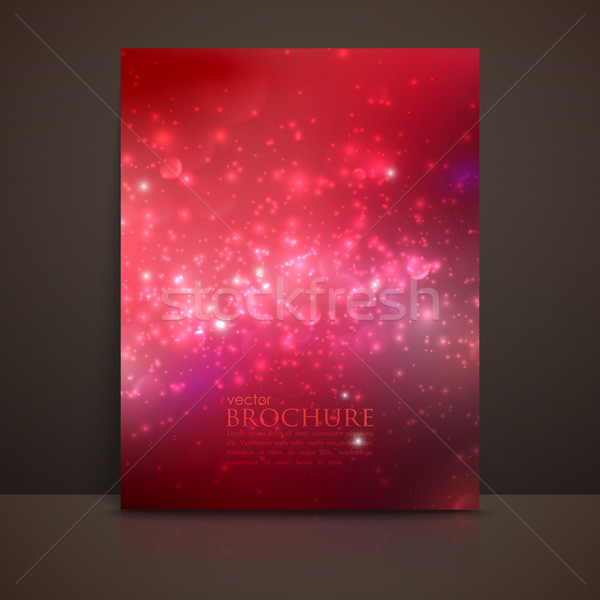scarlet (red) sparkling background with glowing sparkles and gli Stock photo © maximmmmum