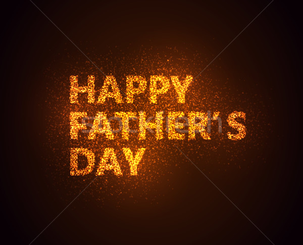Happy Fathers Day shiny label with sparkles Stock photo © maximmmmum