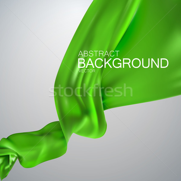 Verde mătase ţesătură satin vector textil Imagine de stoc © maximmmmum