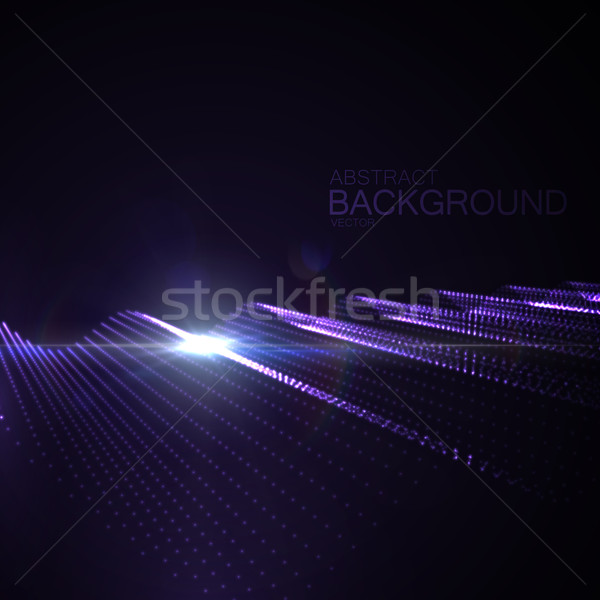 3D illuminated neon digital wave Stock photo © maximmmmum