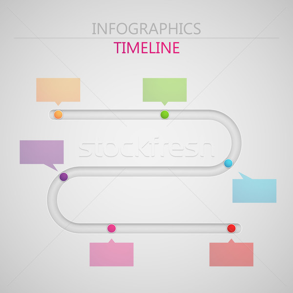 Stock photo: vector abstract 3d paper infographic elements for print or web design. timeline template